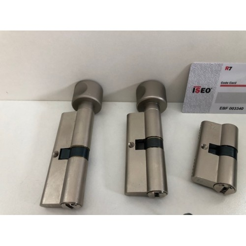 Set knopcilinders en gewone cilinder Iseo R7.