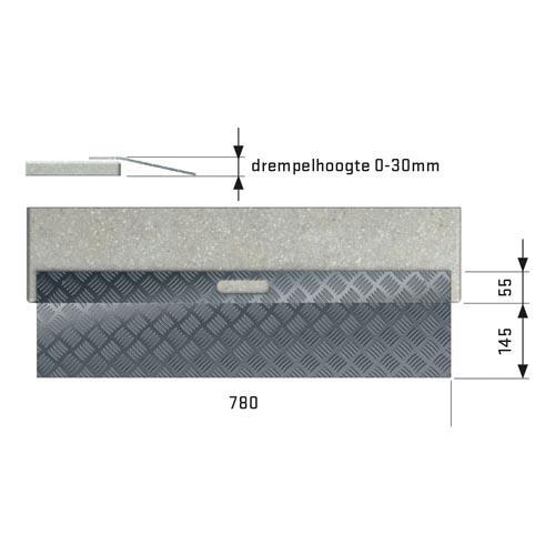 Drempelhulp Aluminium type 1
