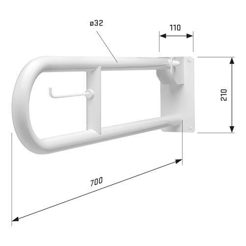 SecuCare toiletrolhouder voor toiletbeugel