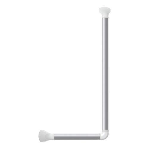 Wandbeugel, hoek 90gr, links/rechts, 60x30 cm, geanodiseerd, afdekkap wit