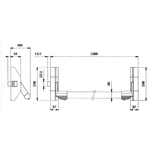verticale stang tbv 2 & 3 puntspanieksluiting