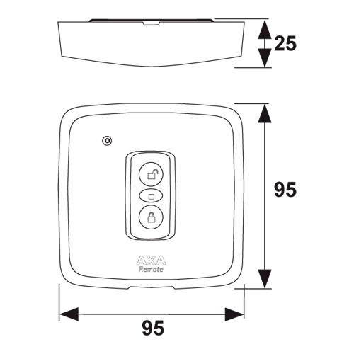Axa  wandbedieningsknop Remote 2.0 wit (blister)