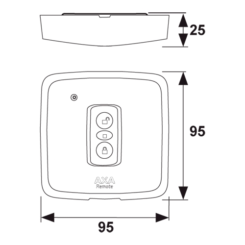 Axa  wandbedieningsknop Remote 2.0 wit