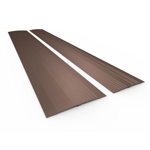 Drempelvervanger blank  14x190 cm.
